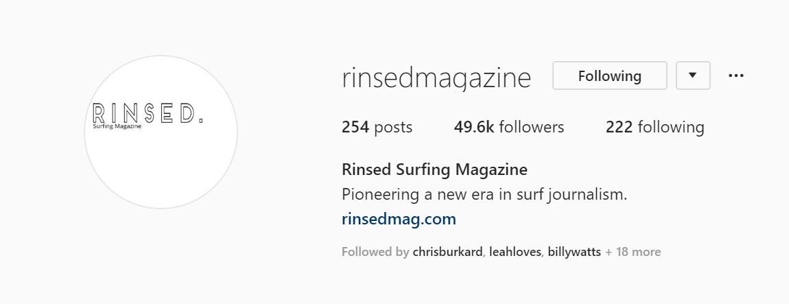 Rinsed Surfing Magazine