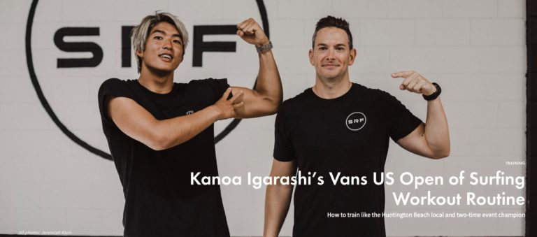 Kanoa Workout for the US Open of Surfing