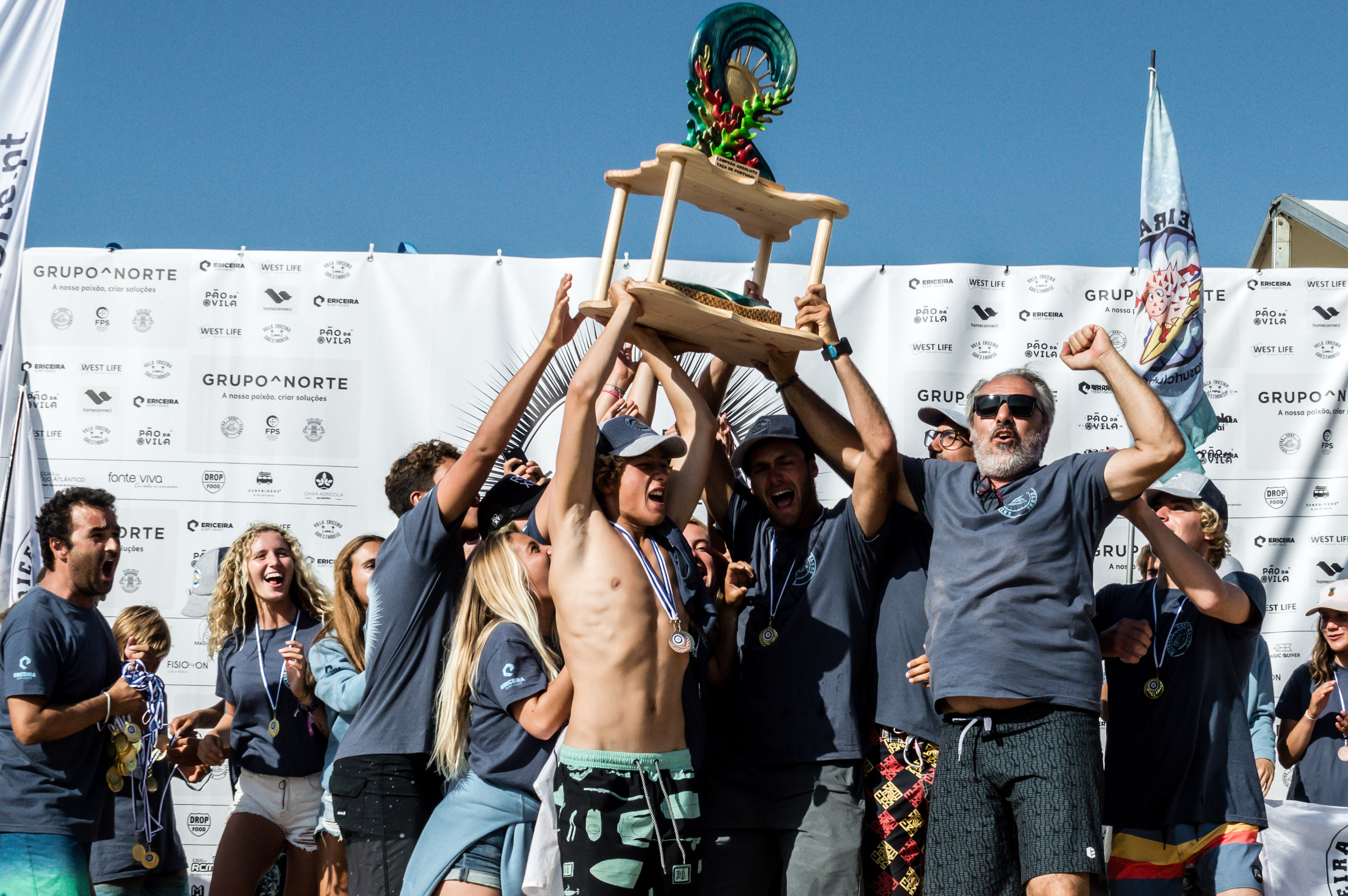 Ericeira Surf Clube Portugal Surfing Cup Champions.